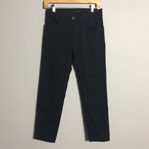 Theory • Button Fly Black Chino Pants